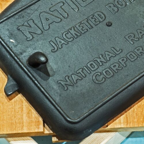 Antique Steam Boiler Door- Cast Iron