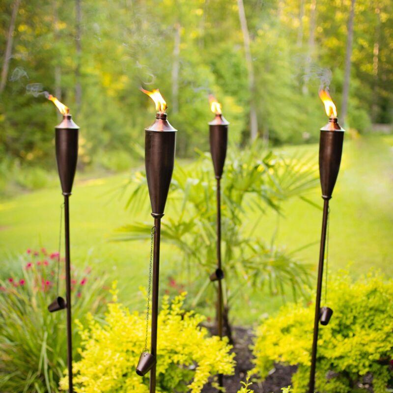 DUSQ Genie Citronella Torch 4 Pack - Bronze