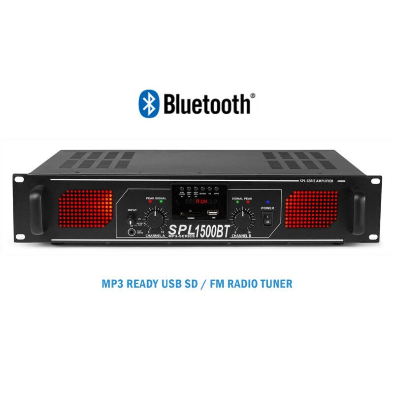 Skytec Bluetooth Stereo Disco DJ Amplifier MP3 House Party PA 19