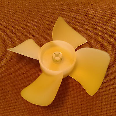 4 Inch Diameter Plastic Fan Bladepropeller. 18 Inch Bore. Cw Rotation.