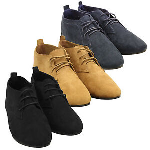 womens faux suede oxford lace up pixie boots