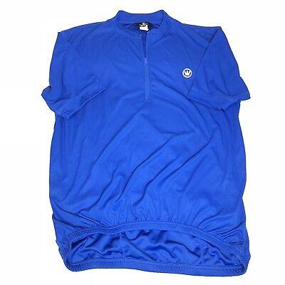Canari Men s Short Sleeve Vented 1 2 Zip Cycling Jersey Blue Size XL EUC 2719ba88f