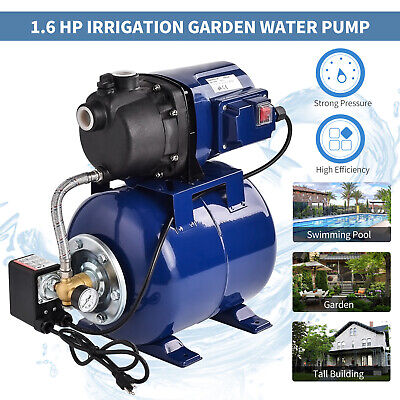 1.6 Hp Electric Shallow Well Pressurized Home Irrigation Garden Water Pump
