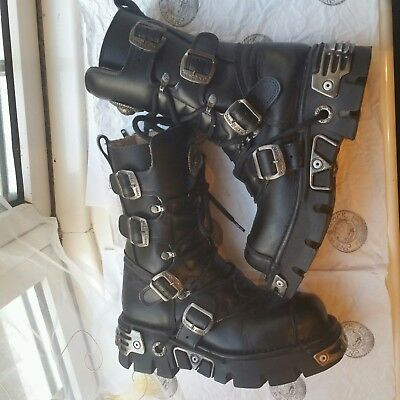 New Rock Boots UK 6 EU 39 Reactor M.313 Black Goth Punk VTG Lolita Industrial for sale  Shipping to South Africa