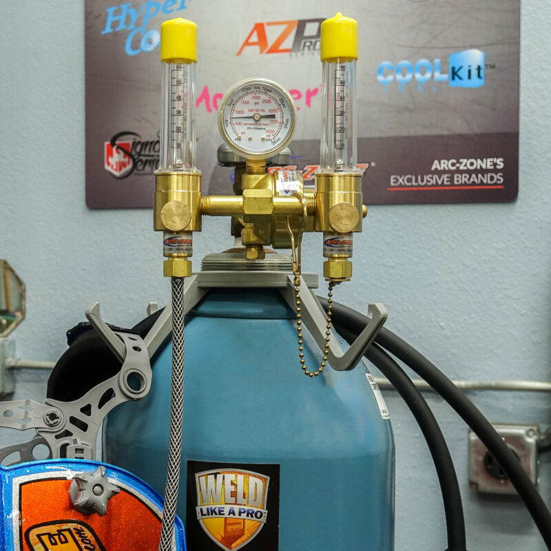 Flametech® Dual Argon Flowmeter & JWS Pro Series™ Purge Gas Starter Kit