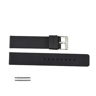Black Silicone Strap Watch - Black Silicone Rubber Replacement Watch Band Strap Wide Steel Buckle 18mm-24mm
