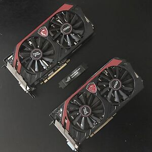 Pair of MSI R9 270X Graphics Cards