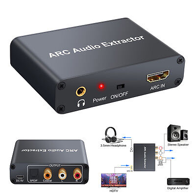 Digital HDMI 192KHz ARC Audio Adapter zu Analog SPDIF RCA Converter Extractor Hdmi Digital Audio