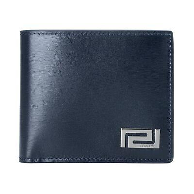 Versace 100% Leather Navy Men's Wallet