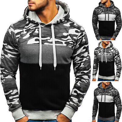 Kapuzenpullover Sweatshirt Pullover Camouflage Hoodie Army Herren BOLF 1A1 Motiv Camouflage Pullover Kapuze