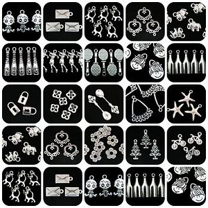 Tibetan-Silver-Charms-Pendant-Bead-Caps-Spacer-Beads-Different-Styles-YOU-CHOOSE