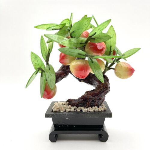 Asian Jade and Stone Peach Tree