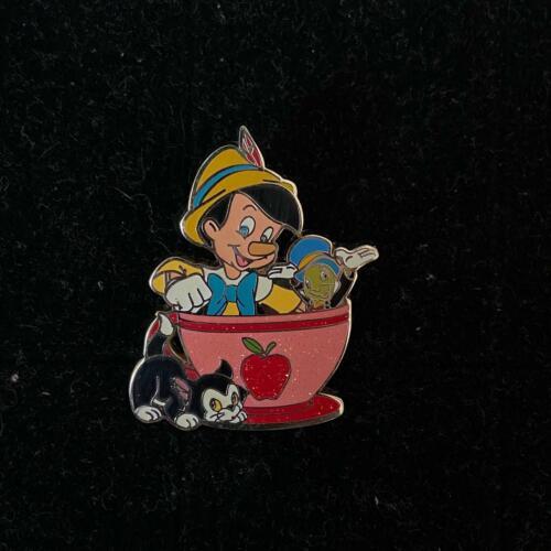 HTF!HKDL Disney Coffee cup Tin Series Pinocchio Jiminy Figaro cat pin(lot set)