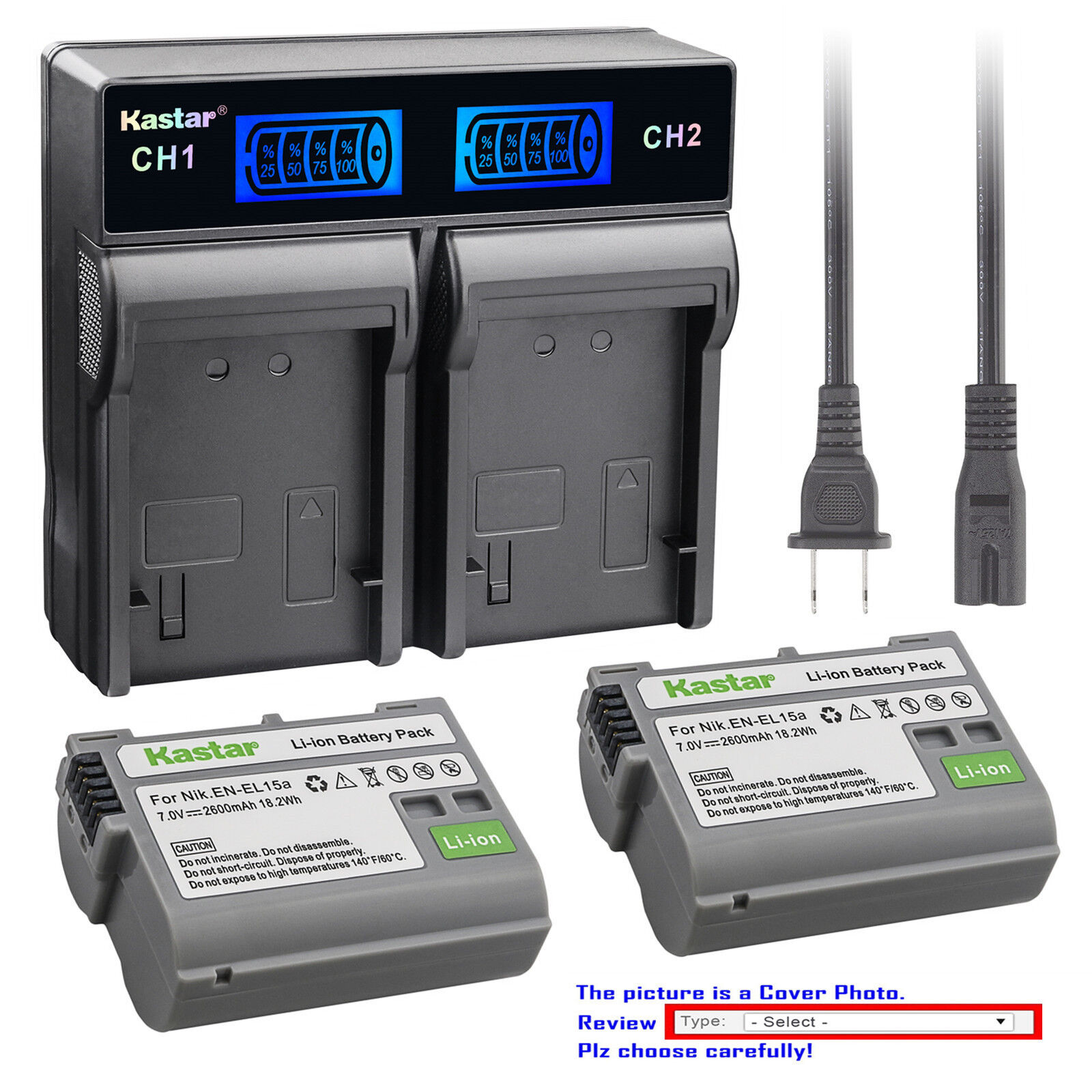 Kastar Battery Dual LCD Fast Charger