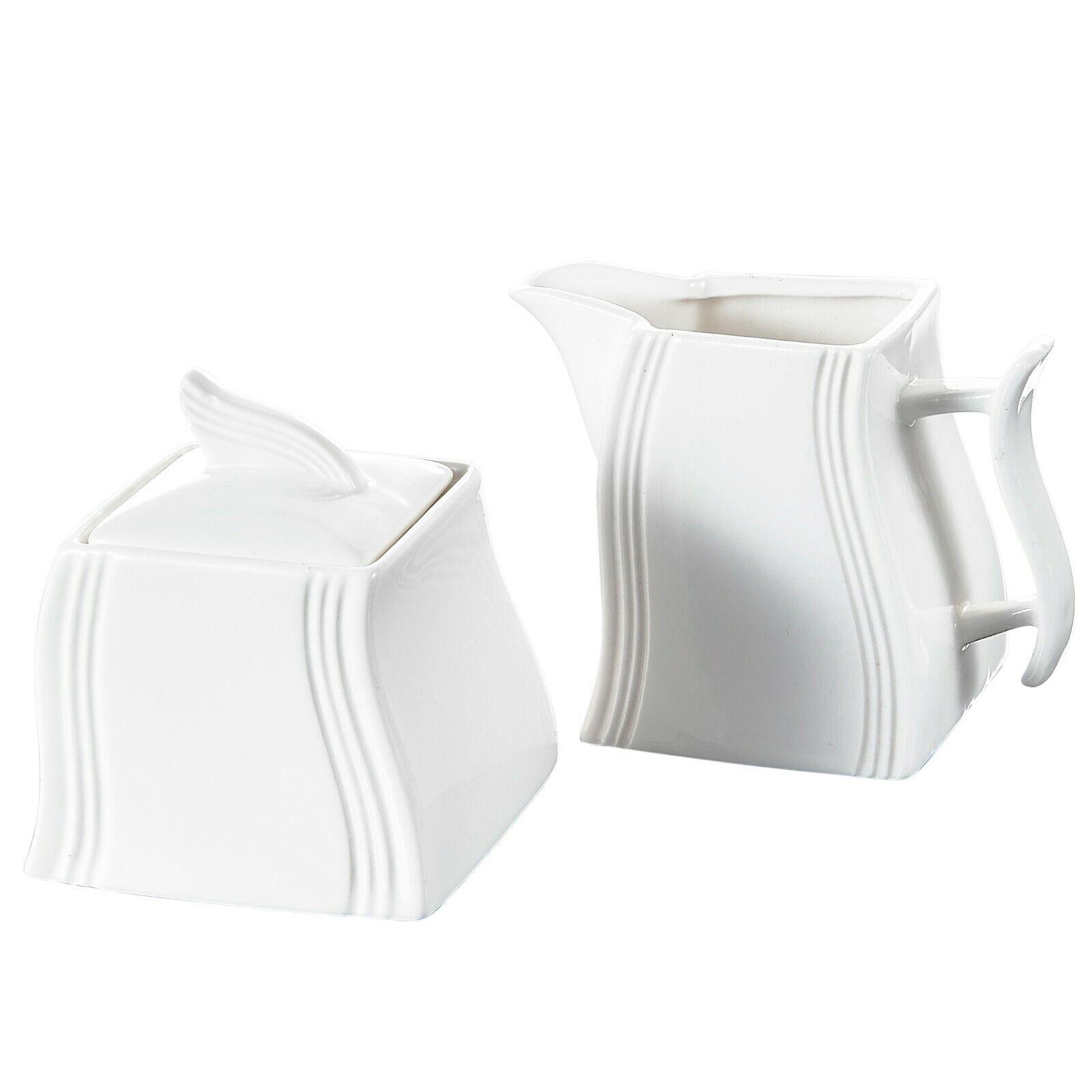 MALACASA, Serie Flora, 3-teilig Milch und Zucker Set mit Deckel