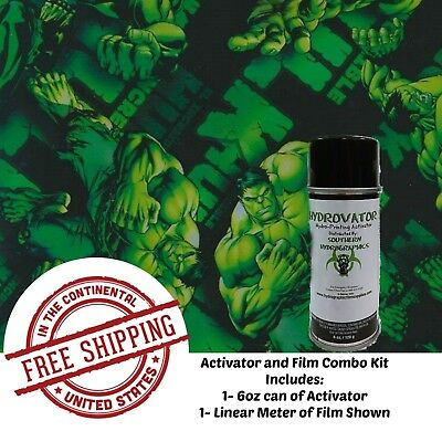Hydrographic Water Transfer Hydro Dip 6oz Activator 1m Green Man Film Kit