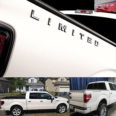 (2pc) FORD F-150 F-250 F-350 Super Duty LIMITED Letters CHROME Bed Emblem