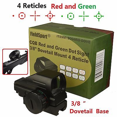 Field Sport  Red And Green Micro Dot Sight 3 8 Dovetail For Air Soft