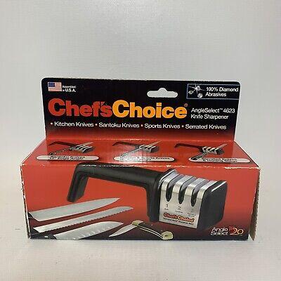 Best Chef's Choice 4623 Angle Select Diamond Hone 3 Stage Manual Knife (Best Diamond Knife Sharpener)