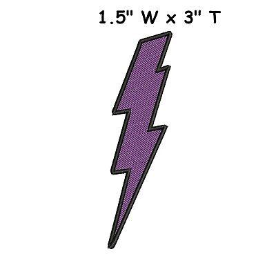 Purple Lightning Bolt (PURPLE LIGHTNING BOLT PATCH, ELECTRIC ZAP APPLIQUE, FLASH BOLT STRIKE)