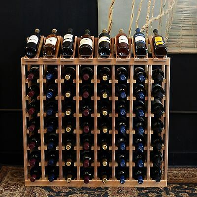 64 Bottle Display View Wine Rack Kit in Premium Redwood. Hand Crafted in USA.