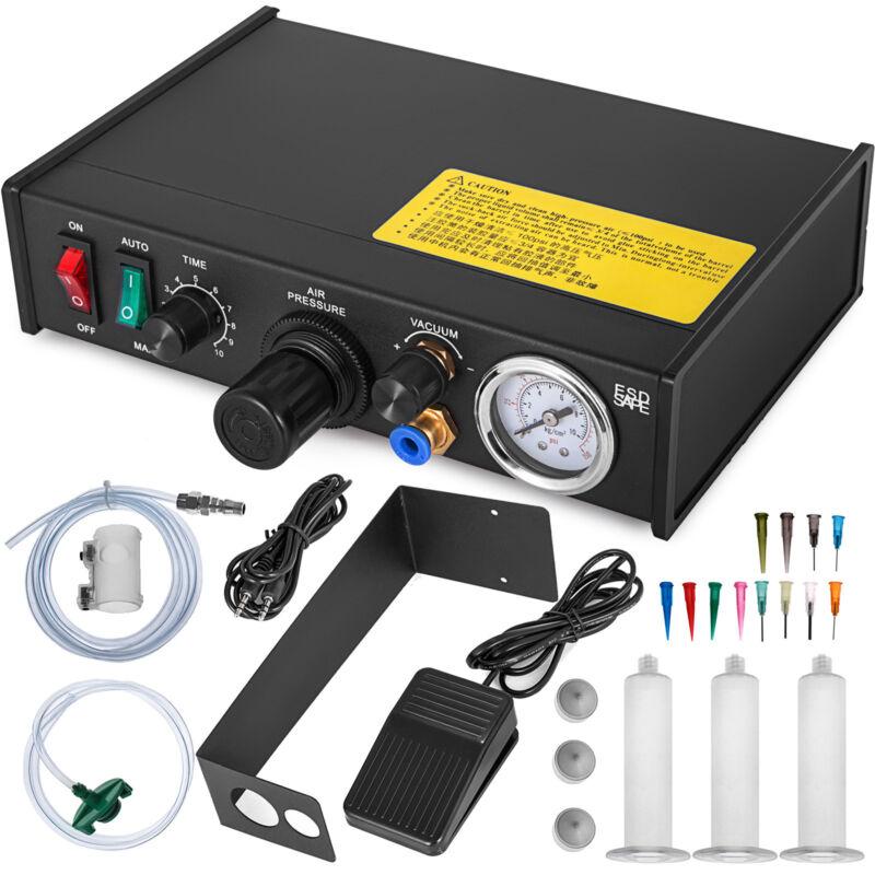 982 Glue Dispenser Machine Semi-Auto Solder Paste Liquid Controller Dropper 110V