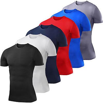 Compression T-Shirt Base Layer Odor fighting Nano Silver Sweat Wicking Shirt