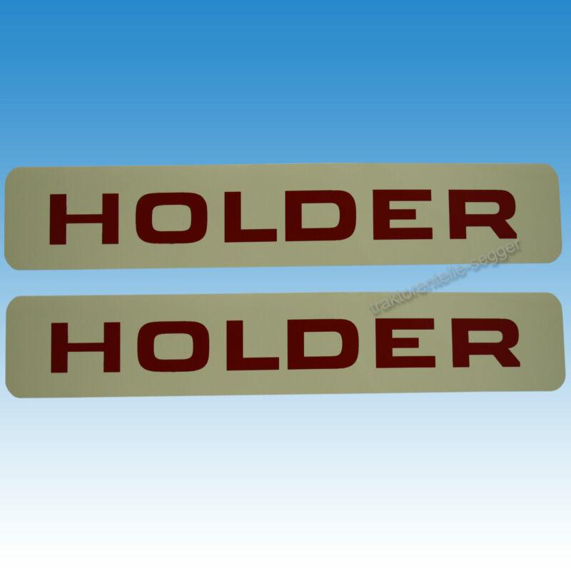 2er Satz seitliche Aufkleber rot Schrift für Holder A 30 Traktor Schlepper 01551 Foto 1
