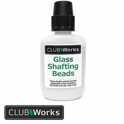 Real glass golf club shafting beads / Glass beads - 50 gram Tub with dispenser