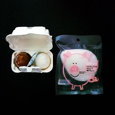 Tonymoly Egg Pore Shiny Skin Soap 50 g * 2 EA + Konjac Cleansing Sponge 1 EA