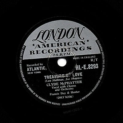 "UK #27 CLYDE McPHATTER DOO-WOP CLASSIC 78 "" TREASURE OF LOVE"" LONDON HLE 8293 Vg"