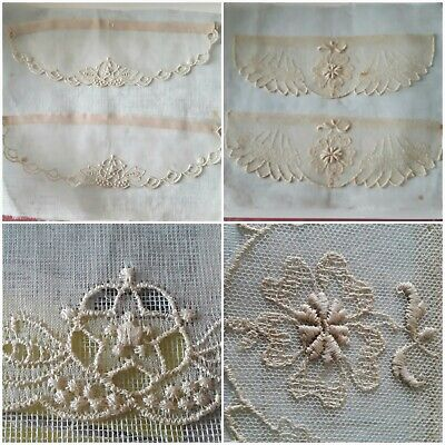 Wide Heavy Rose 5 inch vintage lace trim 5 yard piece for nonprofit fundraiser