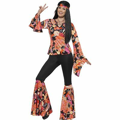 Willow The Hippie Costume Multi-Coloured 60's Groovy Women's Fancy Dress Costume](Willow Costume)