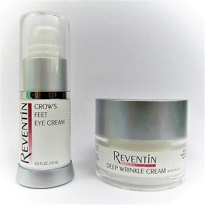 NEW!! Reventin Crow's Feet Eye Cream & Deep Wrinkle Cream Anti-Aging Gift Set