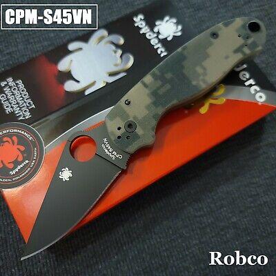Spyderco Para 3 S45VN DLC Black Blade Camo G-10 (Paramilitary 3) C223GPCMOBK