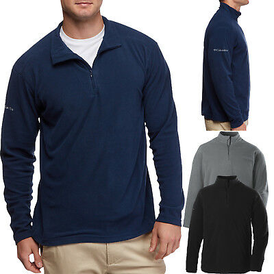 Columbia Mens Jacket 1/4 Zip Warm Polar MICROFLEECE Pullover Sweater S-XL 2X 3X (Microfleece Pullover)