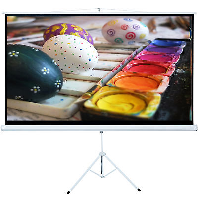 Tripod 100 Inch 16:9 HD Projector Adjustable Projection Screen Portable Stand