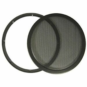 10-DJ-Car-Speaker-Steel-Mesh-2-Piece-Sub-Woofer-Subwoofer-Grill-New-Cover