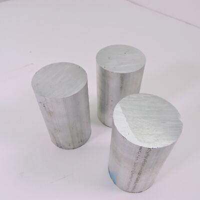 2.25 Diameter 6061 Aluminum Round Bar 4 Long Lathe Stock Pieces 3 Sku 199583
