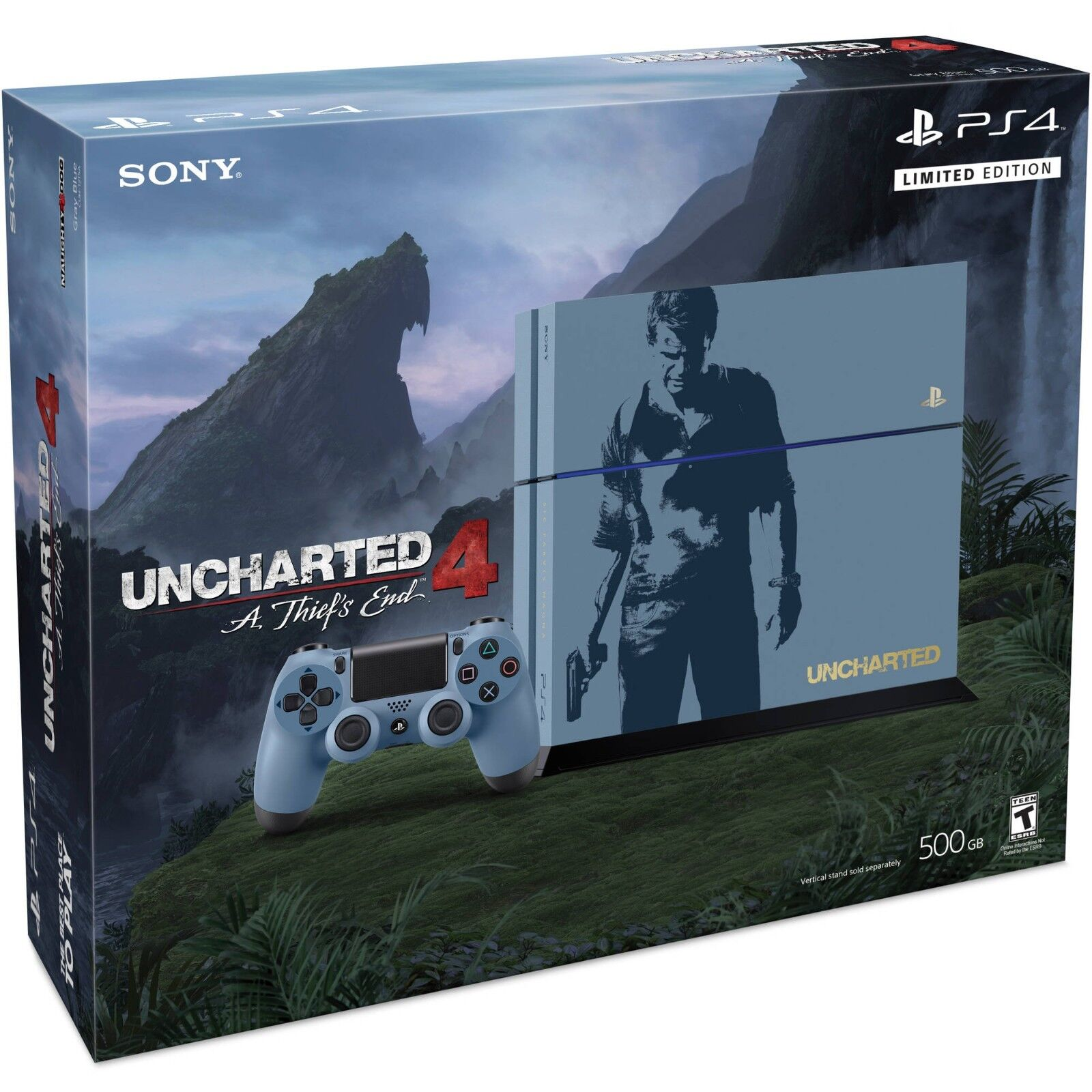 Playstation 4 - PlayStation 4 500GB Console - Uncharted 4 Limited Edition Bundle NEW