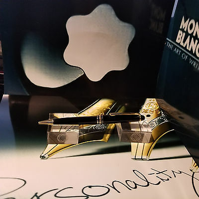 MONTBLANC MEISTERSTUCK CLASSIC/CLASSIQUE 164 BLACK & GOLD BALLPOINT PEN 10883