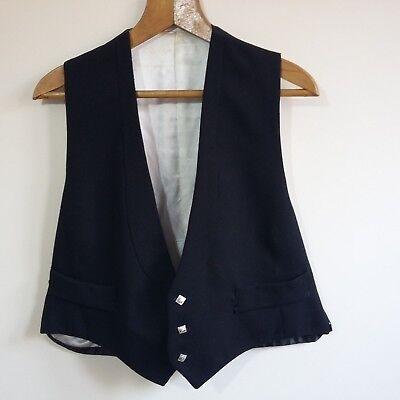 "Vintage Scottish Highland Mens Black Waistcoat 44"" Chest Regular"