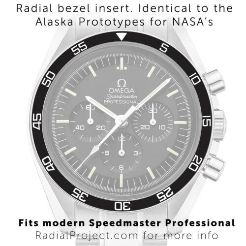 Bezel Insert for Omega Speedmaster Professional - 60min ( Radial Project )