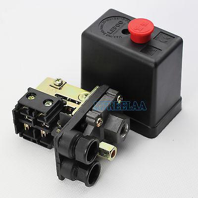 Uniporous 1 Port 90-120psi Air Compressor Pressure Switch Control Valve 240v 20a