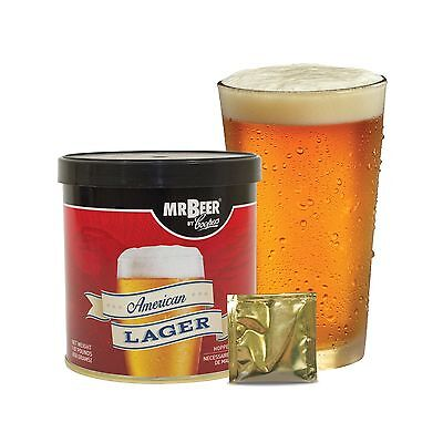 $20.49 - Mr. Beer American Lager 2 Gallon Homebrewing Craft Beer Refill ... Free Shipping