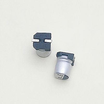 Us Stock 20pcs 1uf 1mfd 50v 4 X 6mm Smd Solid Aluminum Electrolytic Capacitors