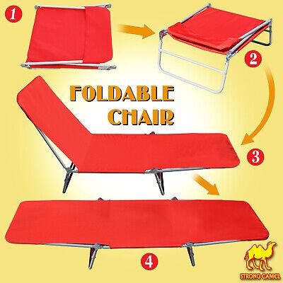 Outdoor Folding Recliner Patio Chaise Portable Chair Lawn Beach Sun Bath Lounge Chaise Folding Recliner