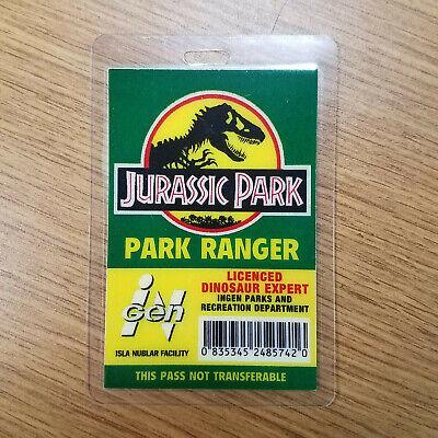 Park Ranger Costumes (Jurassic Park ID Badge-Park Ranger Dinosaur Expert costume prop)