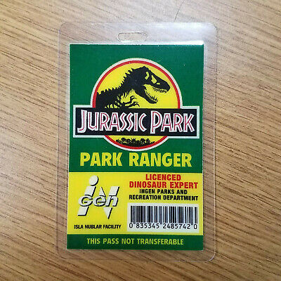 Jurassic Park ID Badge-Park Ranger Dinosaur Expert costume prop cosplay - Jurassic Park Dinosaur Costume