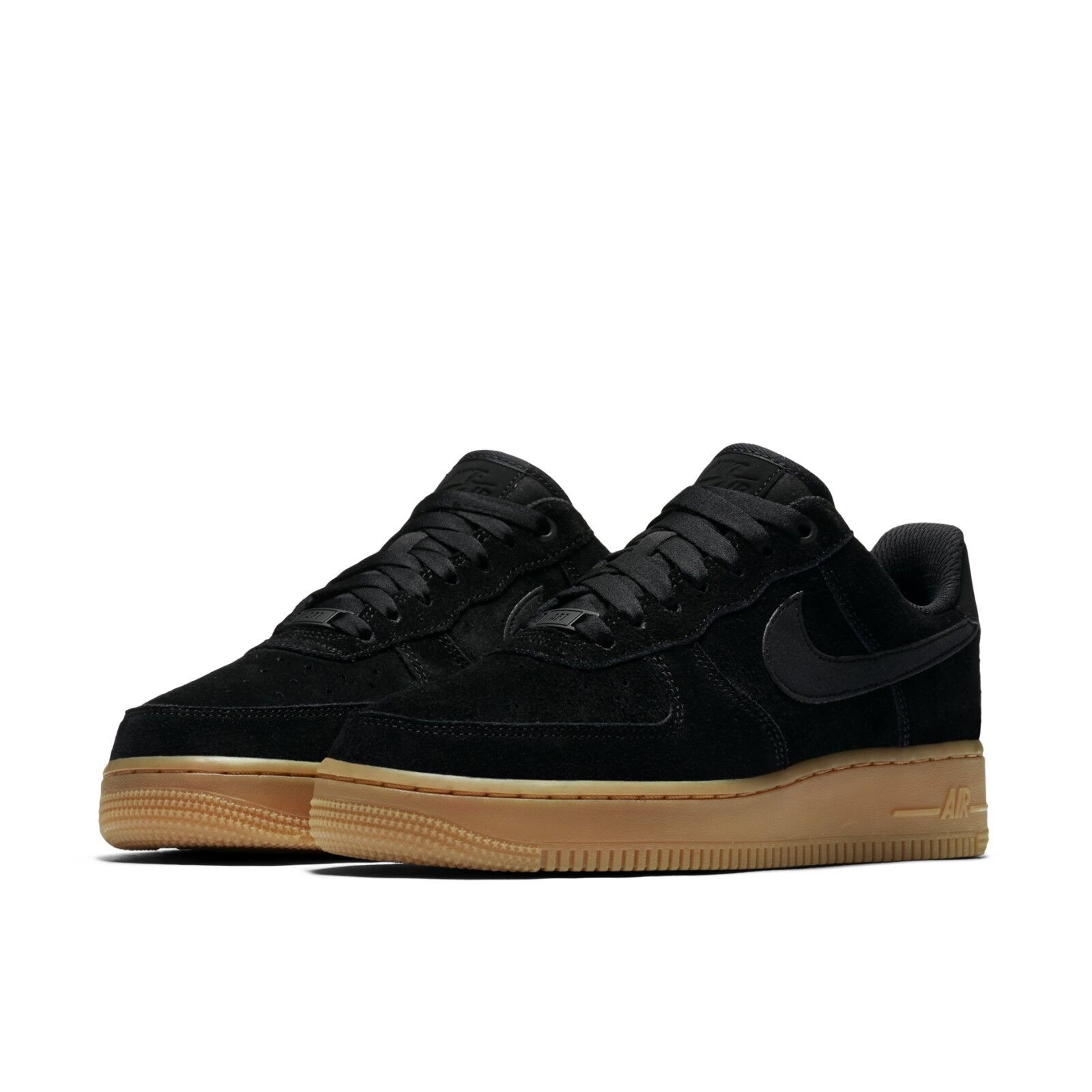 new style e6b61 5ee98 Nike Womens Wmns Air Force 1 07 SE Black Gum Med Brown Suede AF1 AA0287-002